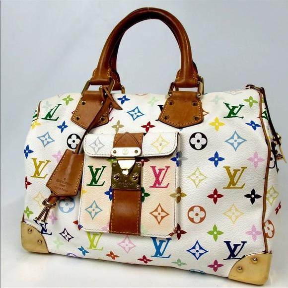 Louis Vuitton Handbags - LOUIS VUITTON  multicolor Speedy 30 tote Handbag